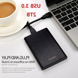 2TB External Hard Drive Disk 2.5''HDD Case USB3.0 Storage Ca
