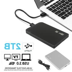 "2TB USB 3.0 Portable 2.5"" External Hard Drive Disk Ultra Sli"