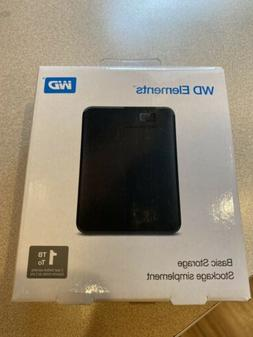 Brand New WD 1TB Elements Portable Storage Model WDBUZG0010B