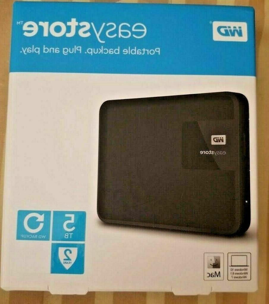 WD - Easystore 5TB External