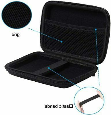 Portable Drive Case with Charger Cable, Hard