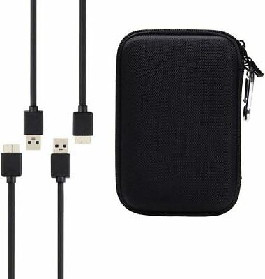 portable hard drive case with 2 usb