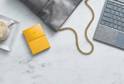 WD My Passport Yellow Portable Drive by Western year