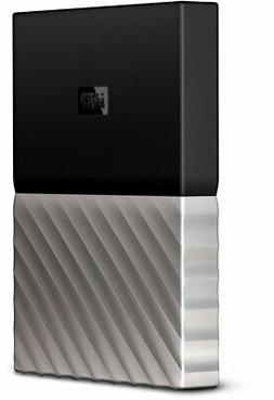 WD My Passport Ultra 4TB Black Grey Portable Hard Drive by W