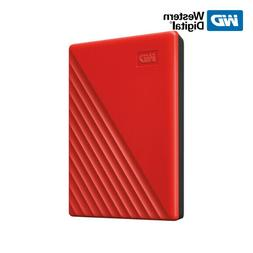 WD NEW 1TB 5TB My Passport Portable External Hard Drive RED