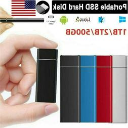 Portable SSD 2TB External Solid State Hard Disk T,Drives USB