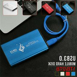 Portable USB 3.0 2TB 1TB External Hard Drive Disks HDD 2.5""
