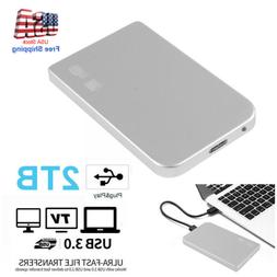 "Portable USB 3.0 2TB 2.5"" External Hard Drive Disk Ultra Sli"