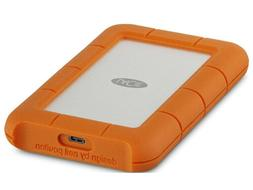 LaCie Rugged 4TB USB-C and USB 3.0 Portable Hard Drive + 1mo