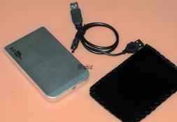 silver USB2.0  External Hard Drive HDD Portable Laptop Mobil