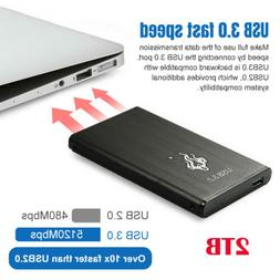 USB 3.0 2TB Portable External Hard Drive Ultra Slim For Lapt